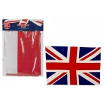 U/JACK FLAG WITH 12FT UNION JACK RAYON BUNTING GROMMETS
