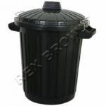 110ltr. Black Dustbin With Metal Clips