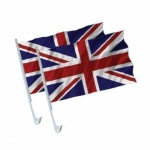 Twin Pack Union Jack 15'' x 10'' Car Flags