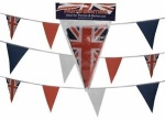 20' Union Jack Rayon Triangular Bunting with 12x8'' size 10 Flags