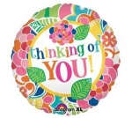 18'' Foil Balloon : Design Floral Thinking of You !