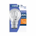 Status 18w = 25w Halogen Round SES Clear 1pk