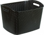 Curver My Style XL Nestable Rattan Basket - XL 28L Rectangle Dark Brown
