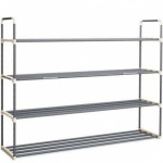 24 Pairs 4 Tier Expandable / Stack Shoe Rack