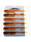 Duralon 9cm Black / Shell Hair Clamp Card of 6 (015)