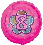 18'' Standard Holographic Foil Balloon : Pink Star 8