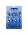 Duralon Padlock Suitcase Card of 12 (4314)