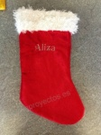 Furry Velour Stocking 17''apx