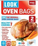LOOK GIANT OVEN BAGS PK2 WITH TIES