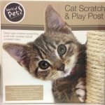 Square Sisal Cat Post-On-Board