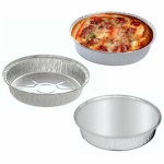 3pc Round Serving / BBQ / Oven Foil Tray