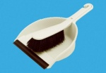 Addis Stiff Dustpan & Brush Set - Linen