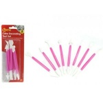 8pc Double Ended 16 Function Cake Decorating Tool Set