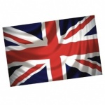 36''x24'' Union Jack Flag PP Bag with Printed Head