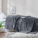 Solid Sherpa Blanket 200x220cm