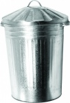 Metal Dustbin & Galvanised Lids (galvanised bin)