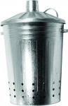 Apollo 90Ltr Tapered Metal Incinerator Galvanised H78cm x W52cm x D49cm
