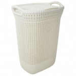 Curver Knit Laundry Hamper - 57L Oasis White