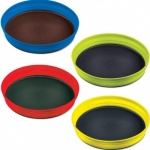Set of 4 Folding Plates - Assorted Colours