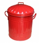 New Galvanised Red mini bin (11''Ø) 12L