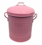 New Galvanised Pink mini bin (11''Ø) 12L