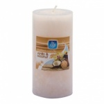 Pan Aroma 151 MOTTLE PILLAR CANDLE  30 HOUR  VANILLA & COCONUT (PAN0329)