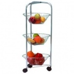 Apollo Chr Veg Trolley 3 Tier Eco