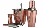 Apollo 5-Piece Stainless Steel and Copper Cocktail Set