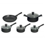 **** Pyrex Onyx 5 piece set (induction) - 16cm, 18cm, 20cm saucepans, 24cm stewpot & 24cm frying pan