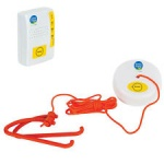 Wireless Magnetic Pull Alarm - White and Red