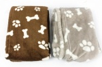 Sifcon Pet Throw 70cmX100cm PAW/BONE PET DESIGN MICROFIBRE BED BLANKET
