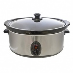 Kitchen Perfected 6.5Ltr Oval Slow Cooker - Brushed Steel