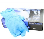 Supertouch Blue Nitrile Medical/food powderfree Large 100