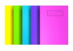 Silvine Bright A5 Poly Prop Exercise Book - lined (NBPPA5AC) PACK OF 10