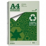 Silvine A4+ Twinwire Fluorescent Notebooks - 160 pages lined with margin -Pack of 8