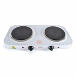 Kitchen Perfected 2000w Double Hotplate - White