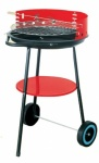 Redwood Leisure 17'' ROUND BBQ on Wheels (BB-BBQ211)
