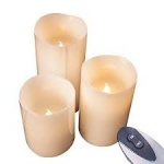 Benross Battery Operated  3pc Flameless Remote Control  LED Candles (76220)
