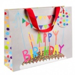ED GIFT BAGS,HAPPY BIRTHDAY- LARGE PK OF 6
