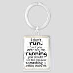 2D Slogan glass Keyring 6 ass