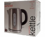 KitchenPerfected 2.2Kw 1.0Ltr Cordless Kettle - Brushed Steel