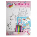 Unicorns jumbo colouring book
