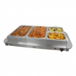 Buffet Server- 4 Section W/Silver Handles