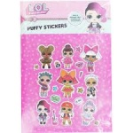 Surprise puffy stickers