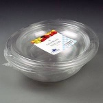 Clear round bowl and lid pk 2