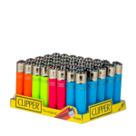 Clipper The Original Fluorescent Assorted Colours Box of 40 CP11R Lighters