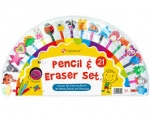 Pencil set with Eraser Toppers 20pk