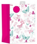 ED GIFT BAGS, FEMALE BUTTERFLYS - LARGE, PK OF 6