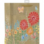 ED GIFT BAGS FEMALE HESSIAN FLORAL,XL PK OF 6 (YAGGBX291)
