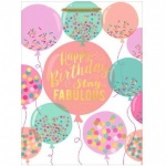 ED GIFT BAGS, PARTY TEXT BALLOONS LARGE, PACK OF 6